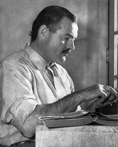 Hemingway popularised the use of short sentences in fiction.